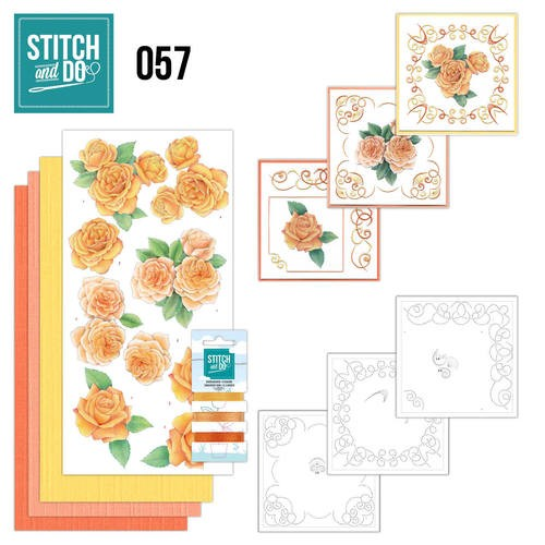 Borduurpakketje Stitch and Do 57 - Oranje rozen