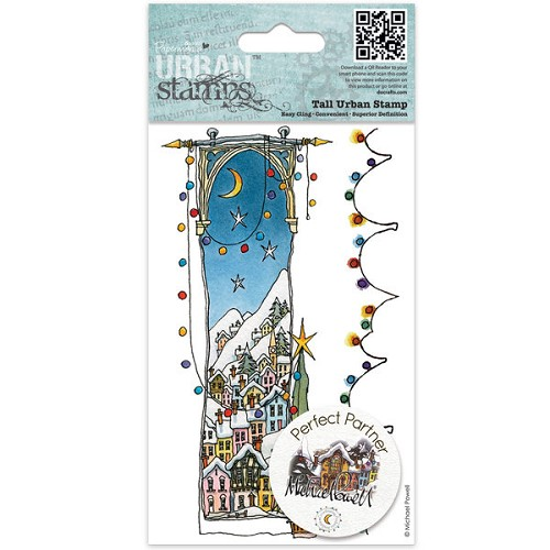 Docrafts Rubber stamp Urban White Christmas