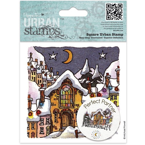 Docrafts Rubber stamp Urban Silent Night
