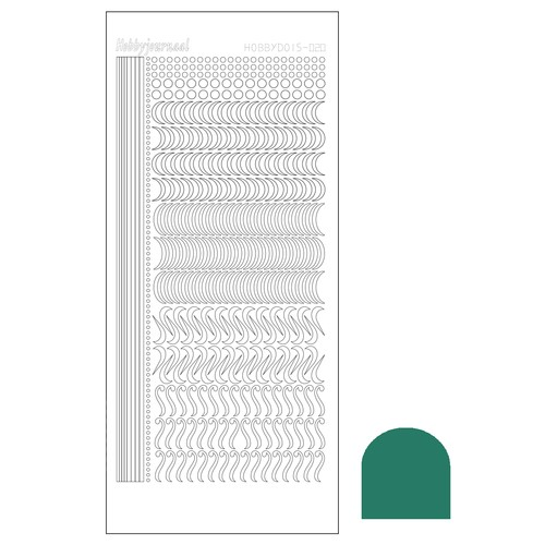 Hobbydots stickervel Serie 20 Mirror Christmas Green (Mosgroen)