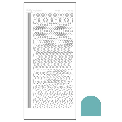 Hobbydots stickervel Serie 20 Mirror Emerald