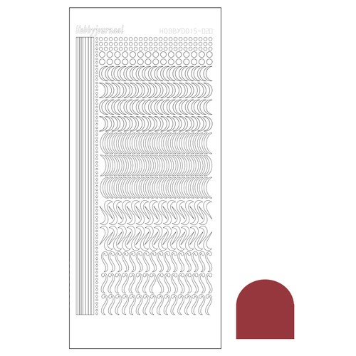Hobbydots stickervel Serie 20 Mirror Christmas Red