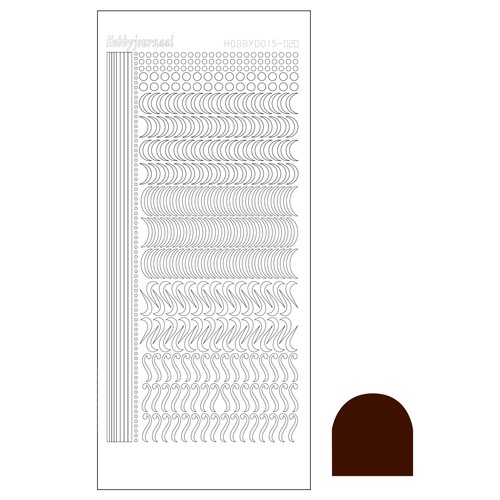Hobbydots stickervel Serie 20 Mirror Brown