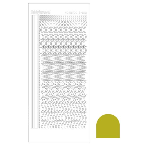 Hobbydots stickervel Serie 20 Mirror Yellow