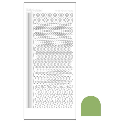 Hobbydots stickervel Serie 20 Mirror Lime