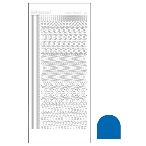 Hobbydots stickervel Serie 20 Mirror Blue