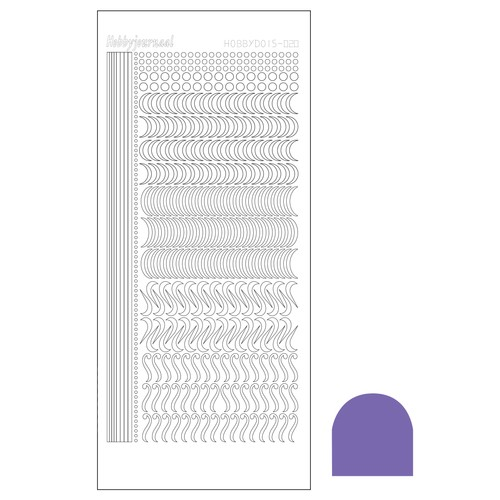 Hobbydots stickervel Serie 20 Mirror Purple