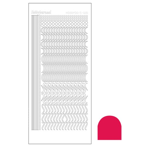 Hobbydots stickervel Serie 20 Mirror Red