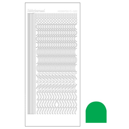Hobbydots stickervel Serie 20 Mirror Green