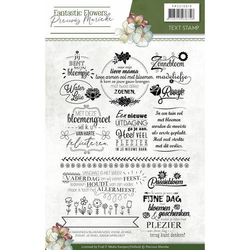Clearstamp - Precious Marieke - Fantastic Flowers text
