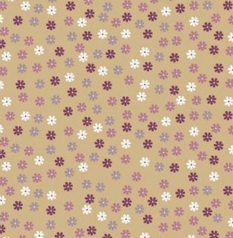 Scrapbook paper 30,5x30,5cm 5 vellen Little Flowers on beige