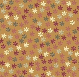 Scrapbook paper 30,5x30,5cm 5 vellen Flowers on brown