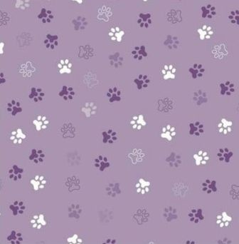Scrapbook paper 30,5x30,5cm 5 vellen Animal Feet violet