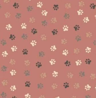 Scrapbook paper 30,5x30,5cm 5 vellen Animal Feet old pink