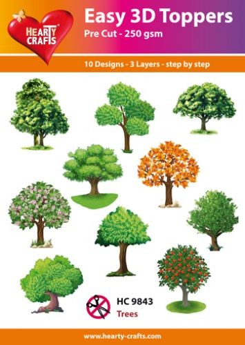 Easy 3D Toppers Trees