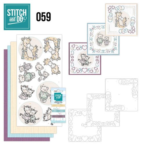 Borduurpakketje Stitch and Do 59 - I love you