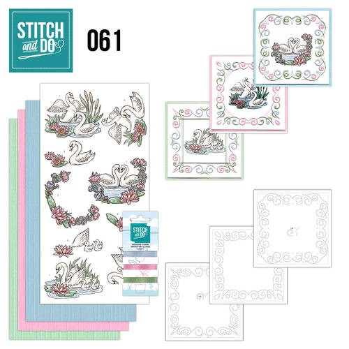 Borduurpakketje Stitch and Do 61- Swans