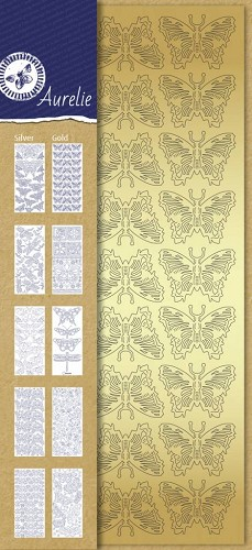 Aurelie Stickervellen set 10 vel Butterflies Collection