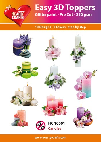 Easy 3D Toppers Candles
