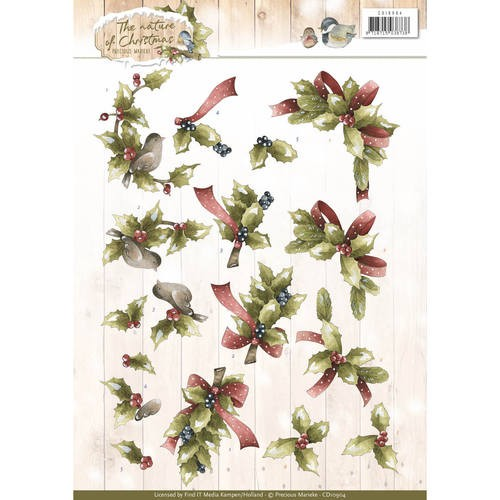 Knipvel A4 Marieke Design  The Nature of Christmas