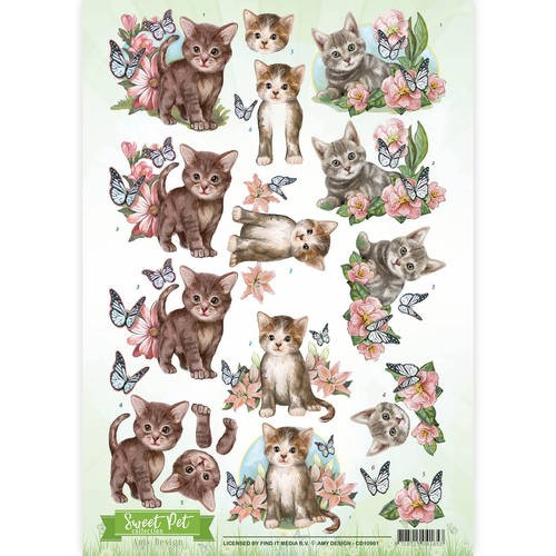 Amy Design knipvel A4 Sweet Pet Cats
