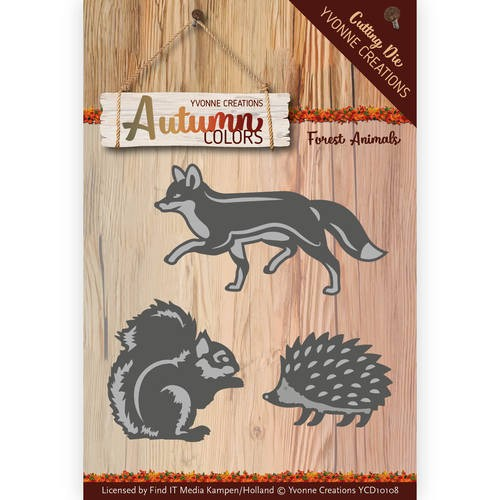 Die - Yvonne Creations - Autumn Colors- Forest Animals