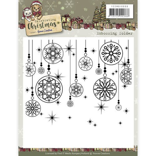 Embossing Folder Yvonne Creations - Celebrating Christmas