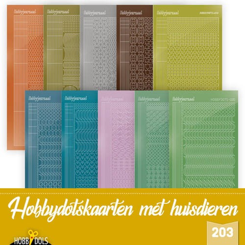 Hobbydots Stickervellen Set van 10 stickers voor Hobbydols 203
