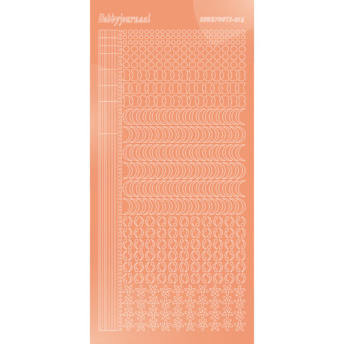 Hobbydots stickervel Serie 16 Mirror Salmon