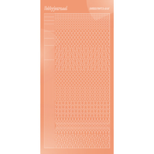 Hobbydots stickervel Serie 15 Mirror Salmon