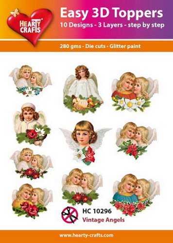 Easy 3D Toppers Vintage Angels