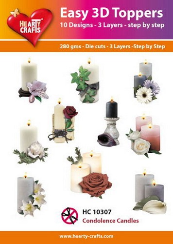 Easy 3D Toppers Condoleance Candles