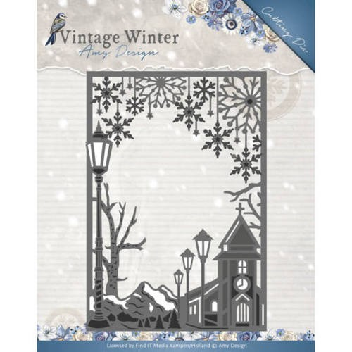 Amy Design die - Vintage Winter - Village Frame Straight