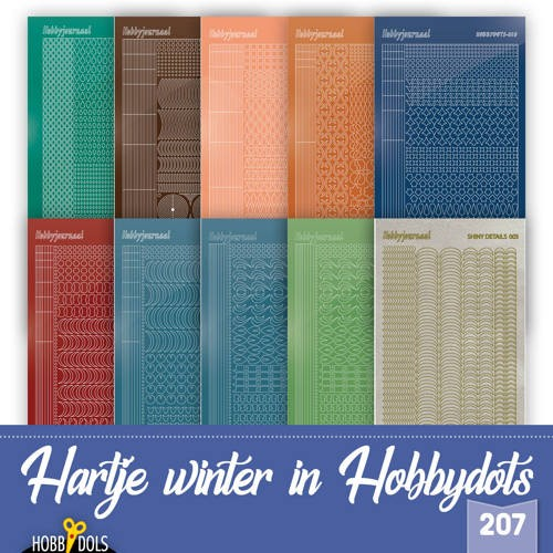 Hobbydots Stickervellen Set van 10 stickers voor Hobbydols 207