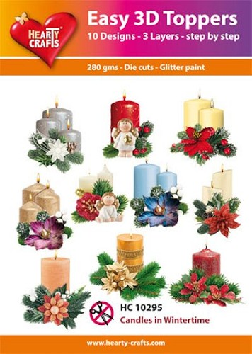 Easy 3D Toppers Candles in Wintertime