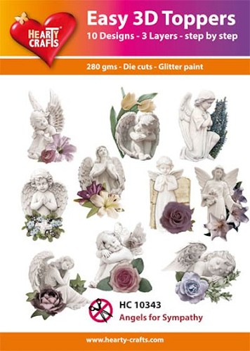 Easy 3D Toppers Angels for Sympathy