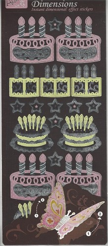 Docrafts Stickervel Dimensions Cupcakes