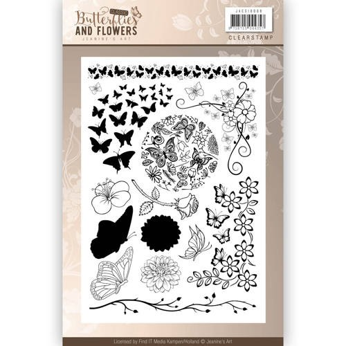 Clearstamp - Jeaninnes Art - Classic Butterflies and Flowers