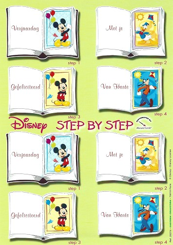 Disney 3D knipvel A4 Miniboek Mickey and Friends