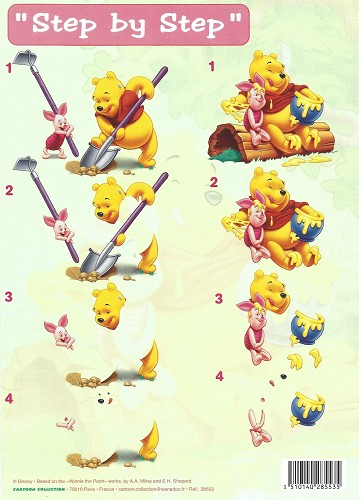 disney 3d knipvel a4 winnie the pooh in the garden de
