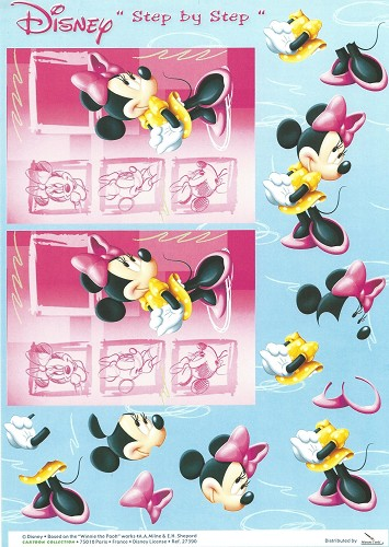 Disney 3D knipvel A4 Minnie