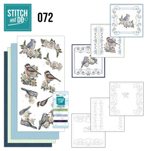 Borduurpakketje Stitch and Do 72 - Vintage Winter