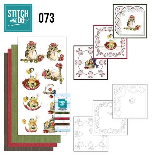 Borduurpakketje Stitch and Do 73 - Get Well Soon