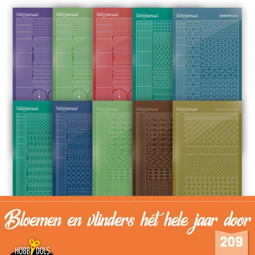Hobbydots Stickervellen Set van 10 stickers voor Hobbydols 209