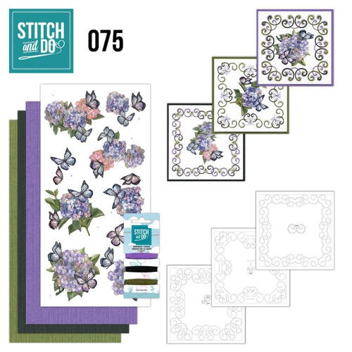 Borduurpakketje Stitch and Do 75 - Hortensia