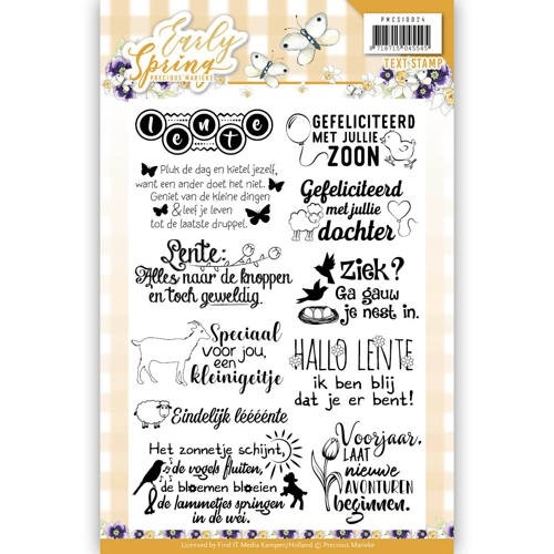 Clearstamp - Precious Marieke - Early Spring - Text