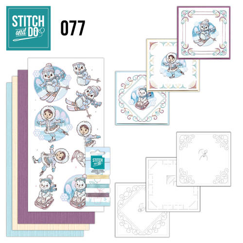 Borduurpakketje Stitch and Do 77 - Winter Fun