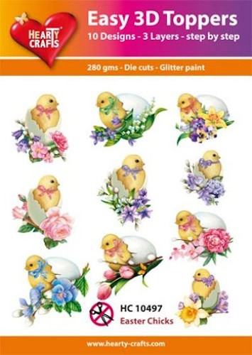 Easy 3D Toppers Pasen Kuikentjes Easter Chicks
