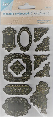 Joy! Metallic Embossed Cardboard Stickers