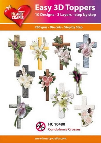 Easy 3D Toppers Condoleance Crosses